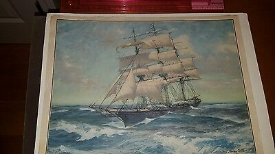 VINTAGE PRINT OR LITHOGRAPH BY GORDON GRANT Ways Of Commerce COPYRIGHT 1925