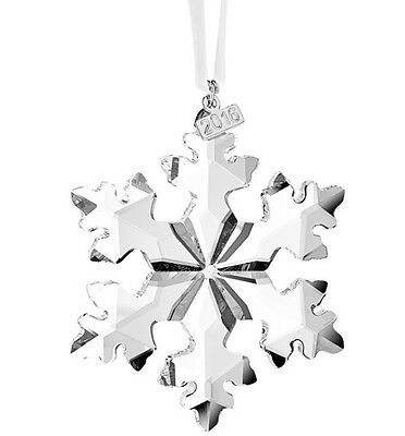 New Swarovski Crystal 2016 Annual Edition Christmas Big Snowflake Star Ornament