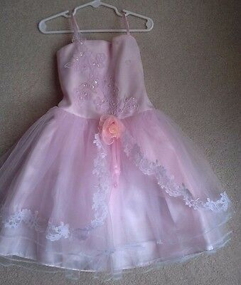 Flower Girl Tulle Formal Party Princess Dress Pink size 6 POPATU Beautiful!!