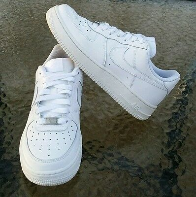 Nike Air Force 1 (GS) Low Kids Youth Sneakers White/White 314192-117 Size 5Y EUC