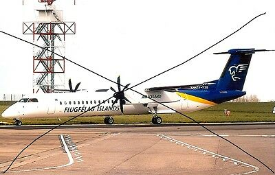 Civil Aircraft Photo, Air Iceland Photograph Of Dash 8 Plane Picture.
