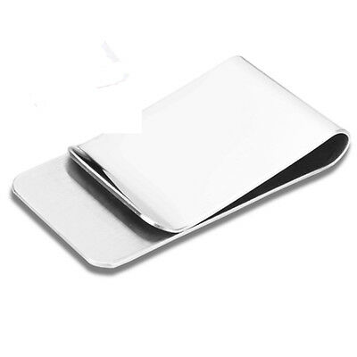Holder Stainless Steel Slim Pocket Money Clip Cash Clamp Wallet Men Purse