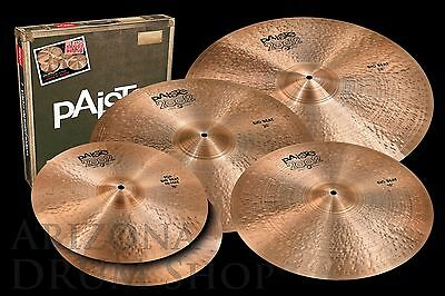 """Paiste 2002 BIG BEAT Black Label Box Set with FREE 18"""" -  15/20/24+18  IN STOCK!"""