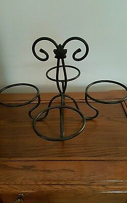 Longaberger Foundry Leaf Wrought Iron Bowl Holder (4)