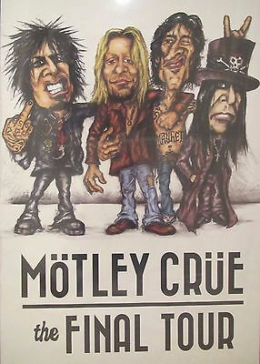 Motley Crue Final Tour Poster Cartoon ***rare*** Only One On Ebay *sold Out*