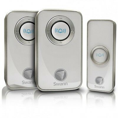 "Swann Wireless Door Chime Twin Pack W/mains ""swhom-Dc820P2""  Brand New/sealed"