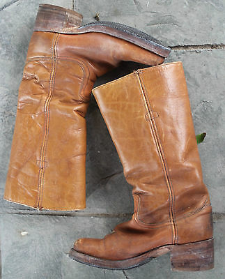 FRYE Vintage Brown Boots Size 6D