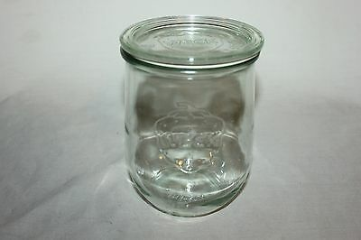 WECK Rundrand-Glas 100 Glass Strawberry Jar & Lid Canning