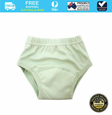 Peapods Training Pants Nappy Large Green #`555