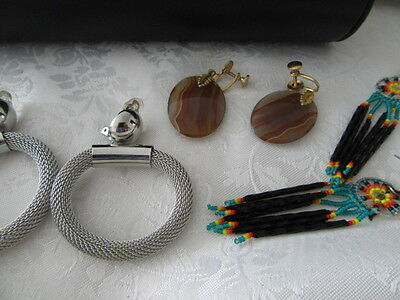 Vintage Bulk Lot Of 3 Pairs Of   Gorgeous Quality  Earrings