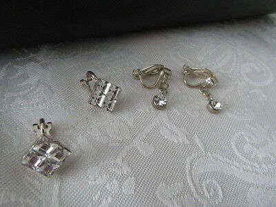 Vintage Bulk Lot Of  2 Pairs Of  High End Clip On Earrings