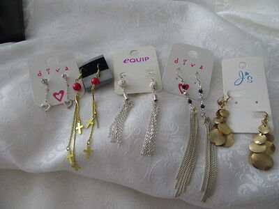 VINTAGE BULK LOT OF  5  GORGEOUS PAIRS OF  EARRINGS    great for resale