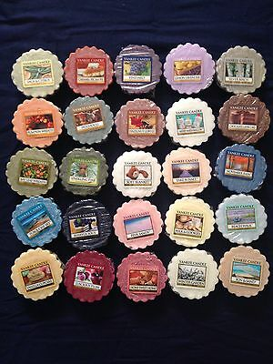 Lot Of 25 Yankee Candle Tart Wax Melts - Mixed Scents New