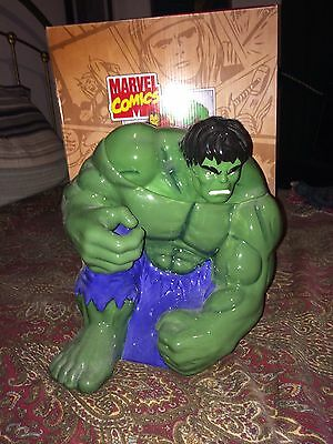 Marvel The Avengers Incredible Hulk Action Figure Ceramic Cookie Jar New In Box