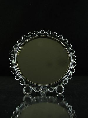 """Imperial Candlewick Desk Mirror, 400, Extremely Rare, 4 1/2"""", Collectors Piece"""