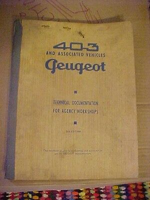 Peugeot 403 Technical Documentation For Agency Workshops Manual 2nd Edition +