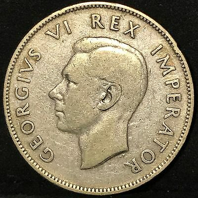 1945 South Africa 2 1/2 Shillings Silver Foreign Coin Free S/H
