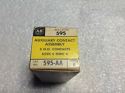 Allen Bradley 595-AA Auxiliary Contact 2 N.O. Size 0-4 595 595AA New (TB)