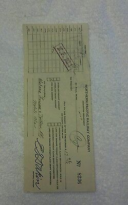 Northern Pacific Railway Check (1930)