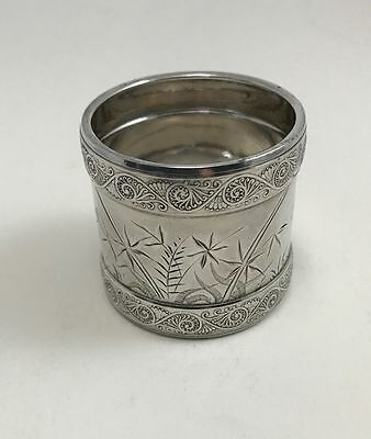Minty Gorham Sterling Silver Aesthetic Movement Napkin Ring Dragonfly 1884 (A)