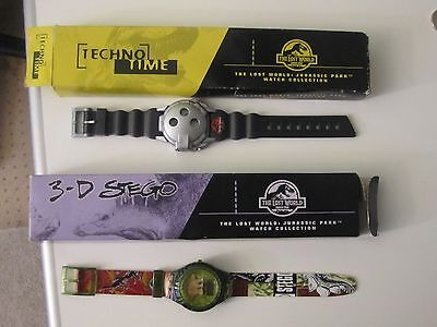 2 Burger King Jurassic Park THE LOST WORLD (1997) Watches