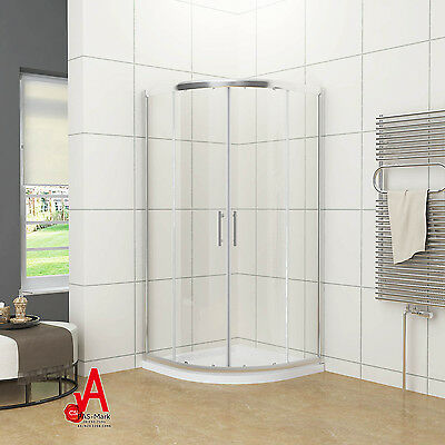 800/900/1000x1900mm Curved Shower Screen Enclosure Cubical