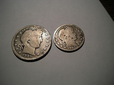 Good--1895--50 Cent-1895-25 Cent--American Coins