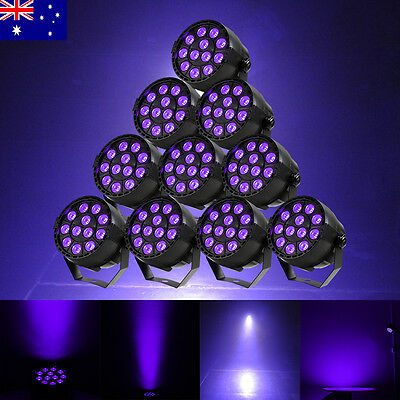 10 PCS 36W UV light LED Par Can Light DMX512 Stage Lighting DJ Show Party KTV AU