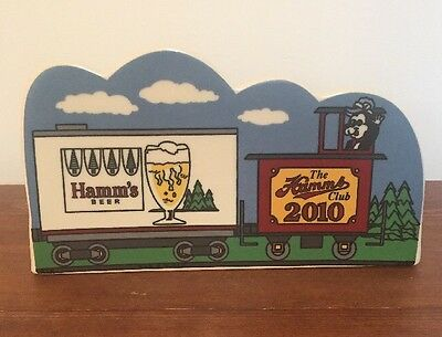 2010 The Annual Hamm's Collectors  Club Peice featuring Bear in Train - MINT