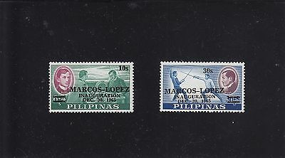 Philippines 1965 Marcos Inauguration pair - Mint never hinged