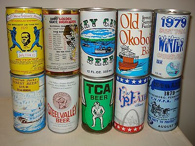 USA Special Event beer cans Ohio State/Old Okoboji/ Steamboat Days/ TCA/ VP Fair