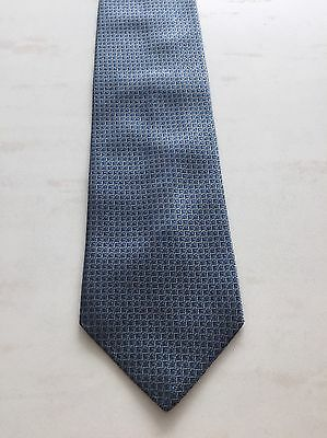 Canali 100% Silk Blue Textured Tie - Made in Italy