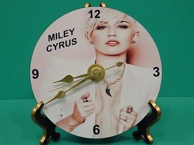 MILEY CYRUS - Photo - Designer Collectible GIFT Clock