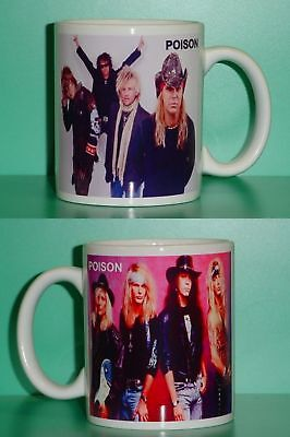 POISON - BRET MICHAELS - with 2 Photos - Designer Collectible GIFT Mug