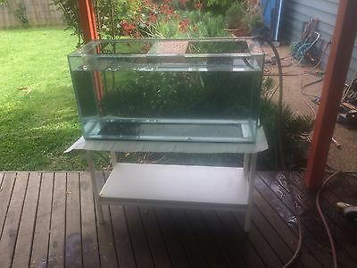 Large Fish Tank plus Stand, 'Aqua One' Reflector Light And Heater.