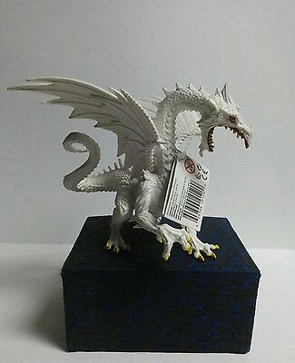 Snow Dragon Glow in the Dark Safari PVC Figurine Hand Painted S10120 New