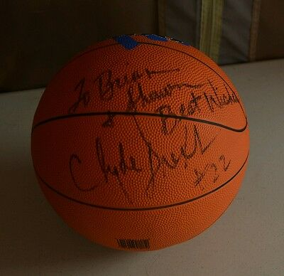Clyde Drexler Signed Autographed Basketball Brian & Shawn Houston Portland