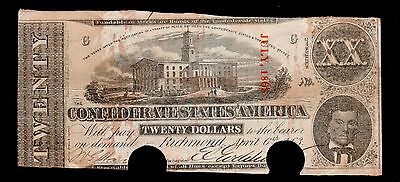 1863 $20 Confederate Currency
