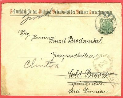 Austria 5h Solo used on Advertising  cover to USA 1907