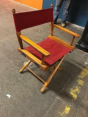 Vintage GOLD MEDAL Folding Directors chair CANVAS seat and back YOU BE THE STAR!