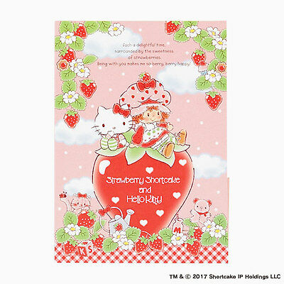Hello kitty x Strawberry Shortcake Letter set with case Limited From Japan