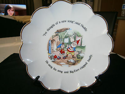 Vintage Noddy Royal Stafford Gold Scalloped Edged Fine Bone China Plate As New