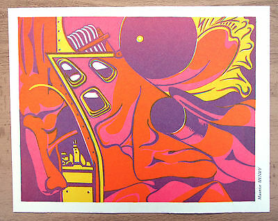 MAURICE HENRY original lithograph SITUATIONIST TIMES 1967 lithographie original