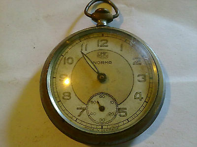 Old Pocket Watch Norma Made In Germany