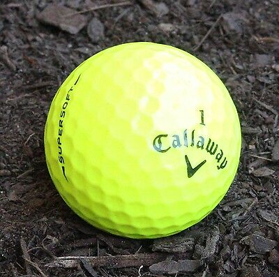 50Callaway Supersoft Yellow Excellent Condition GolfBalls
