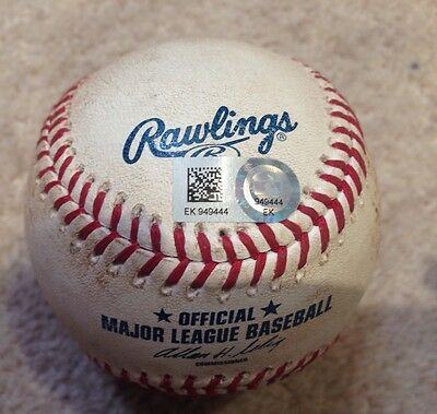 Game Used Ball Yasiel Puig & Jose Fernandez Dodgers V Marlins MLB Authenticated