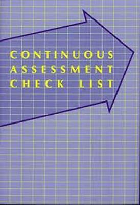 Teacher assessment book - Continuous Assessment Checklist