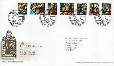 """Gb Fdc 2009 """"xmas-Let There Be Light"""" Sp/hs"""