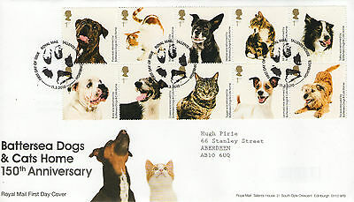 """Gb Fdc 2010 """"battersea Dogs & Cats Home"""""""