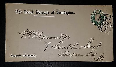 GB KEVII The Royal Borough of Kensington Letter 1903 (NoL248)
